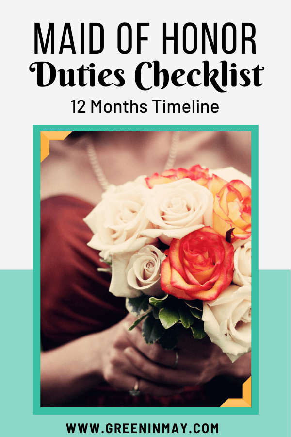 Maid of Honor Duties Checklist